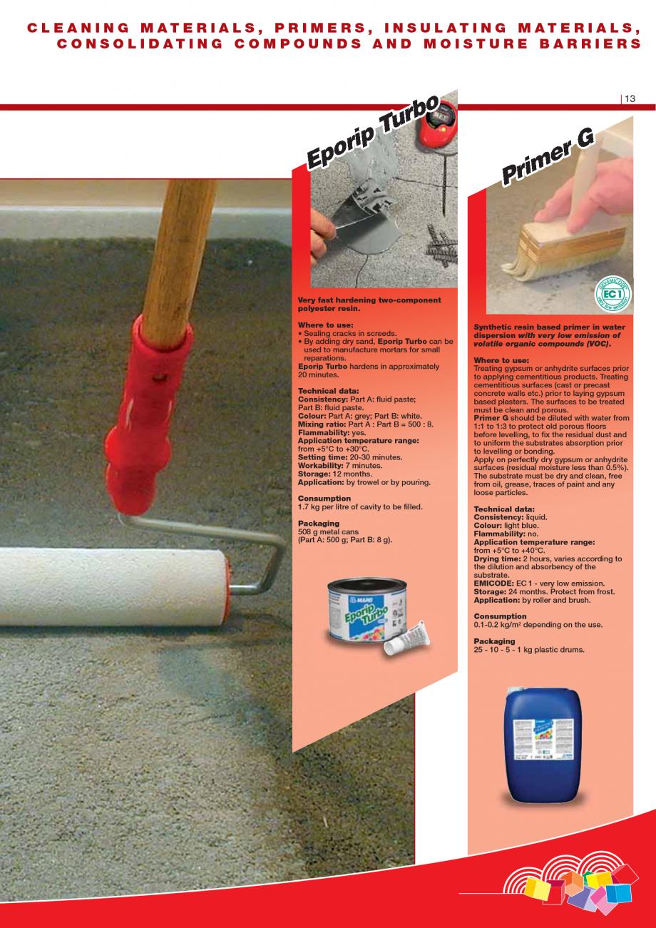 Pagina 15 - Produse pentru montarea imbracamintilor vinilice, textile si cauciuc pentru pereti si...