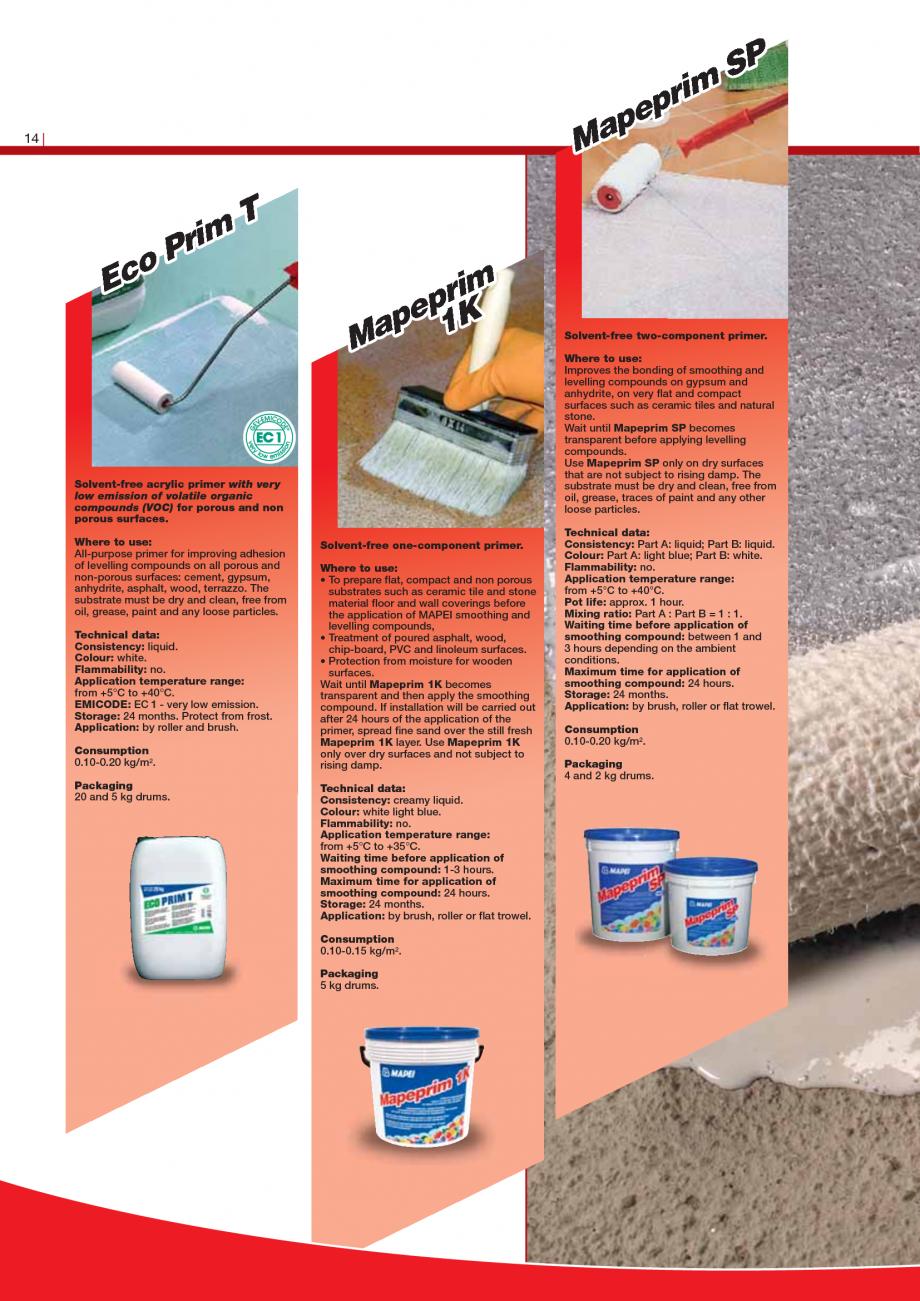 Pagina 16 - Produse pentru montarea imbracamintilor vinilice, textile si cauciuc pentru pereti si...