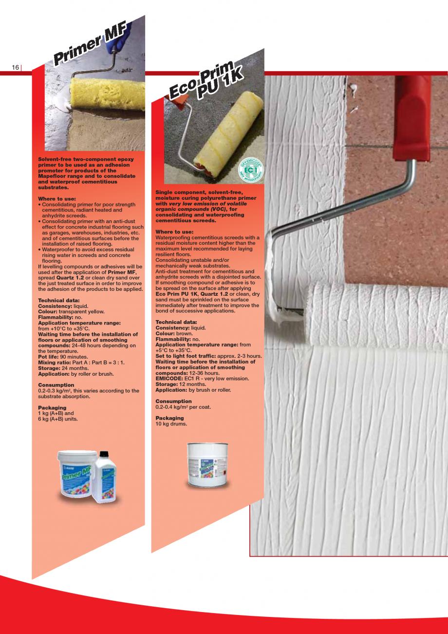 Pagina 18 - Produse pentru montarea imbracamintilor vinilice, textile si cauciuc pentru pereti si...