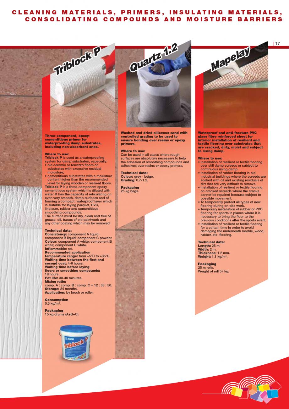 Pagina 19 - Produse pentru montarea imbracamintilor vinilice, textile si cauciuc pentru pereti si...