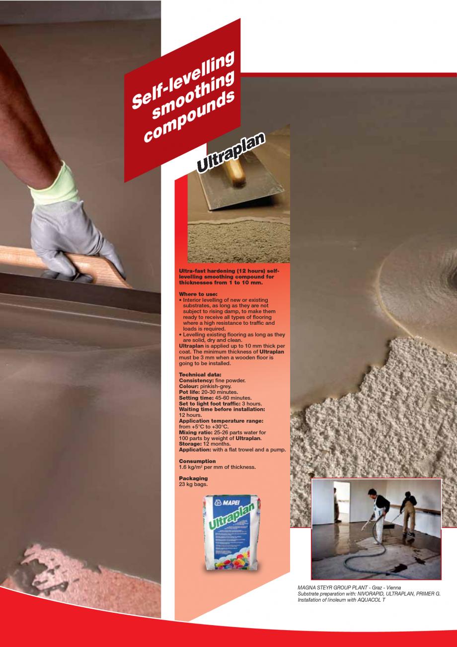 Pagina 20 - Produse pentru montarea imbracamintilor vinilice, textile si cauciuc pentru pereti si...