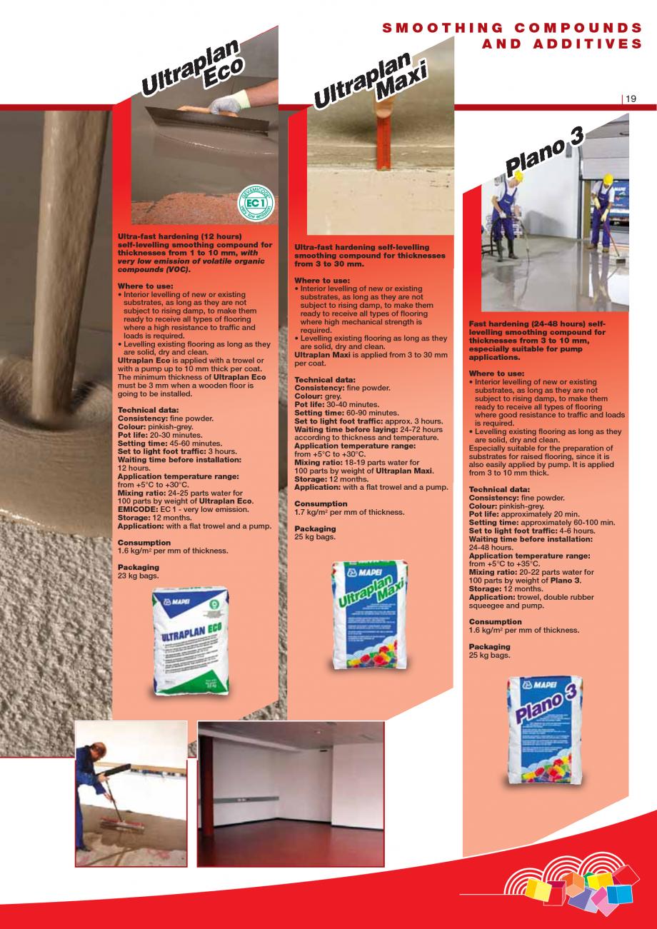 Pagina 21 - Produse pentru montarea imbracamintilor vinilice, textile si cauciuc pentru pereti si...
