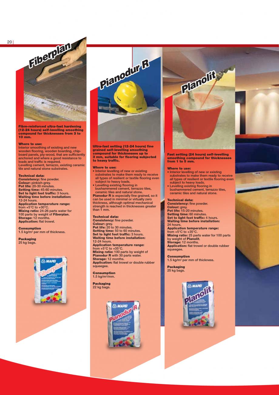 Pagina 22 - Produse pentru montarea imbracamintilor vinilice, textile si cauciuc pentru pereti si...