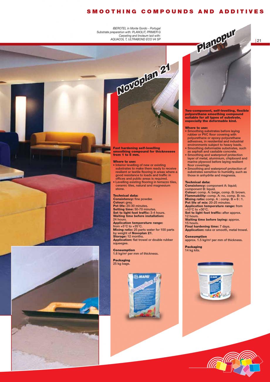 Pagina 23 - Produse pentru montarea imbracamintilor vinilice, textile si cauciuc pentru pereti si...