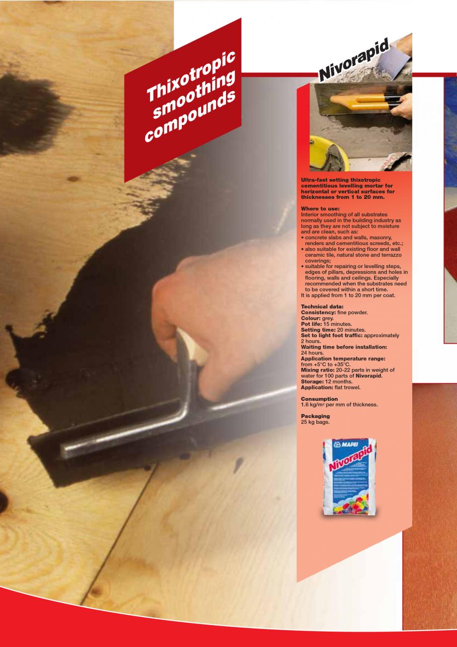 Pagina 24 - Produse pentru montarea imbracamintilor vinilice, textile si cauciuc pentru pereti si...