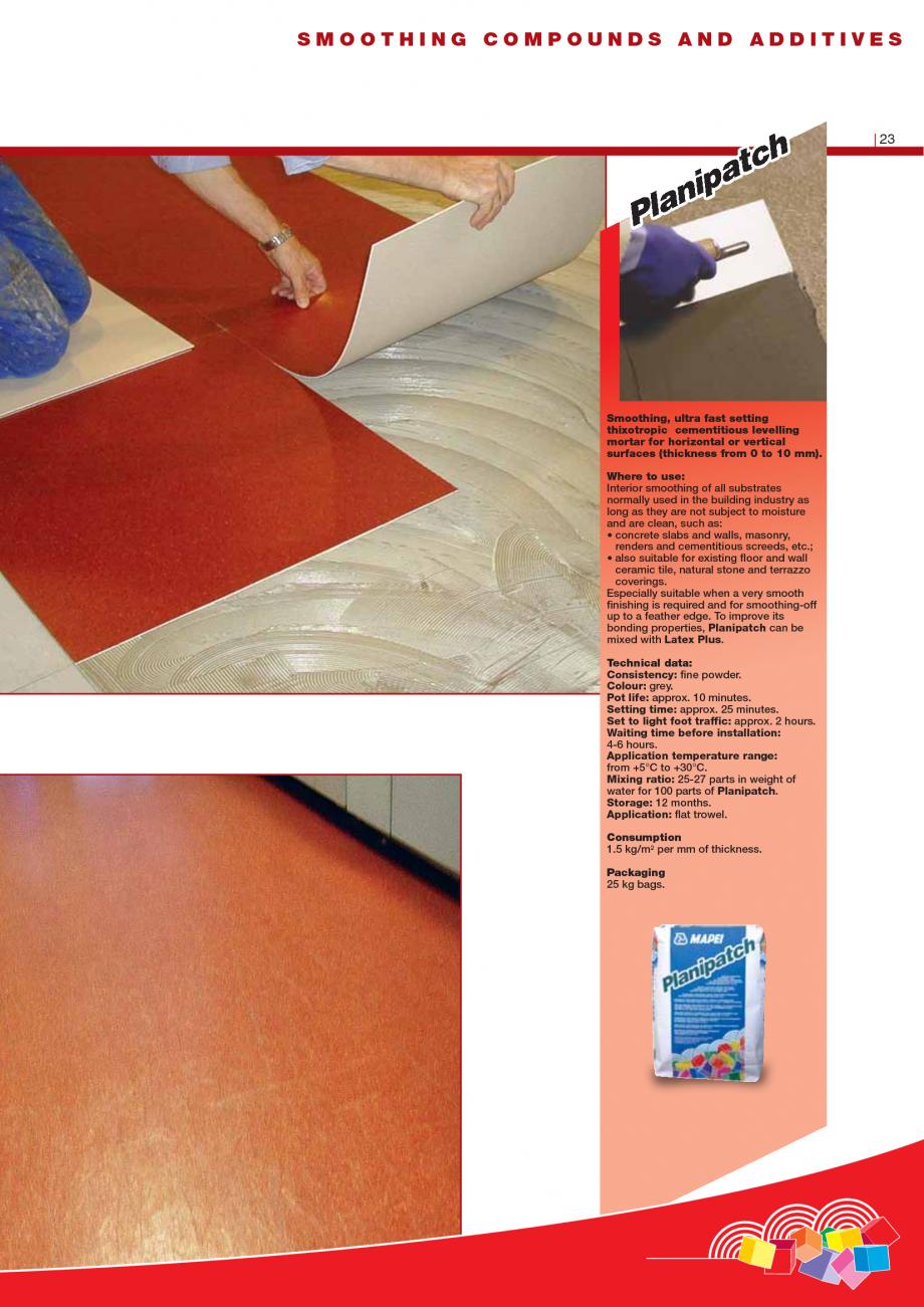 Pagina 25 - Produse pentru montarea imbracamintilor vinilice, textile si cauciuc pentru pereti si...