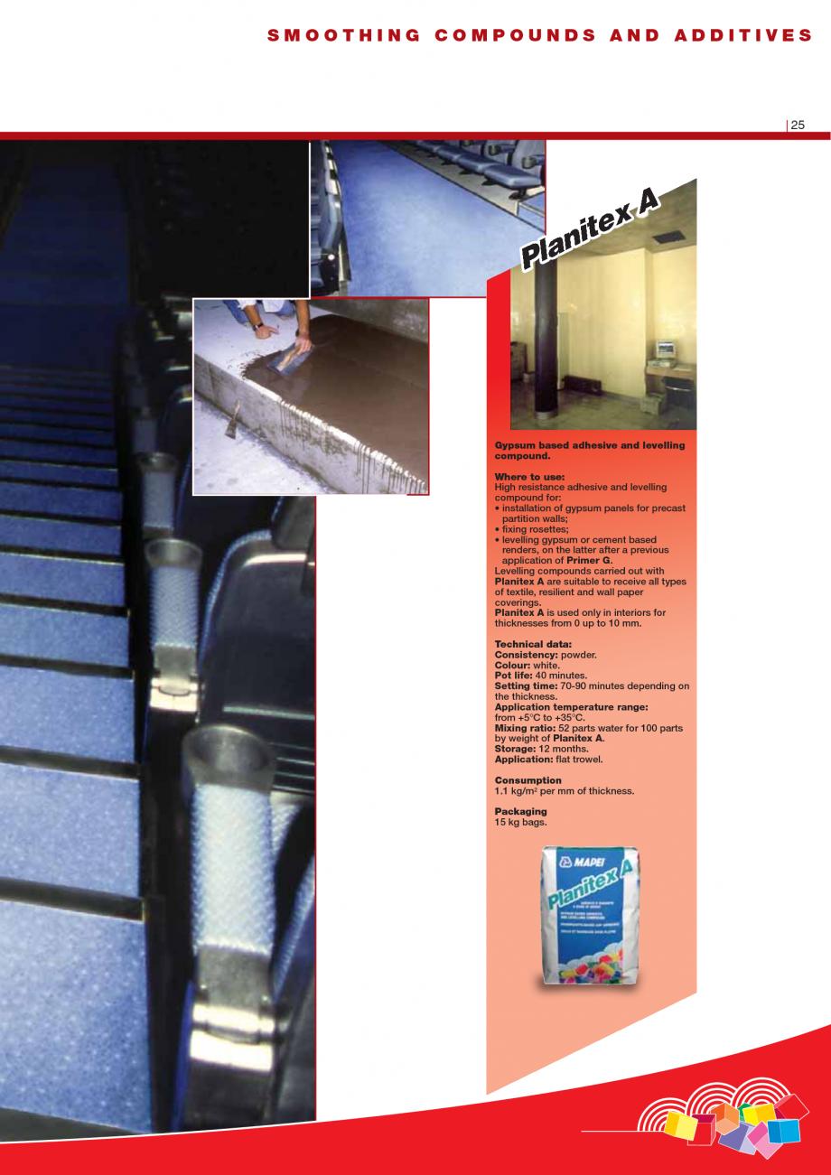 Pagina 27 - Produse pentru montarea imbracamintilor vinilice, textile si cauciuc pentru pereti si...