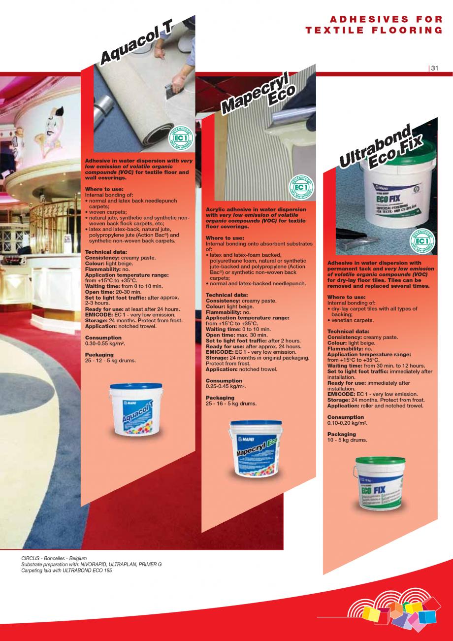 Pagina 33 - Produse pentru montarea imbracamintilor vinilice, textile si cauciuc pentru pereti si...