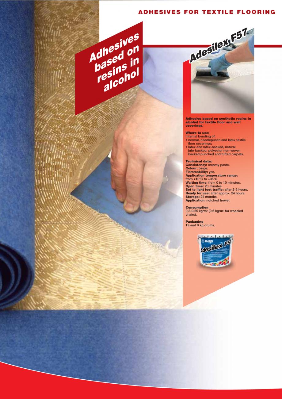 Pagina 36 - Produse pentru montarea imbracamintilor vinilice, textile si cauciuc pentru pereti si...