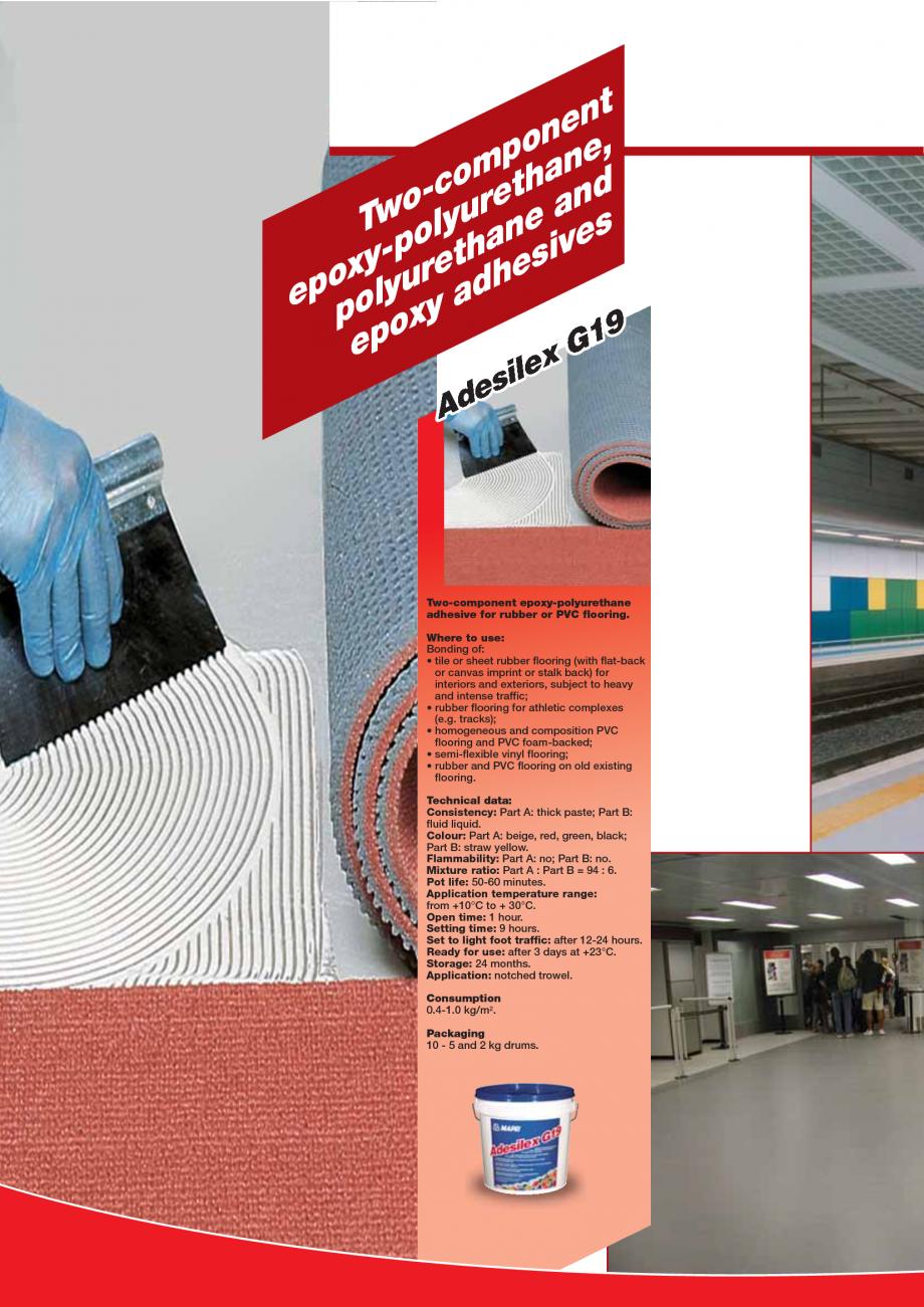 Pagina 48 - Produse pentru montarea imbracamintilor vinilice, textile si cauciuc pentru pereti si...