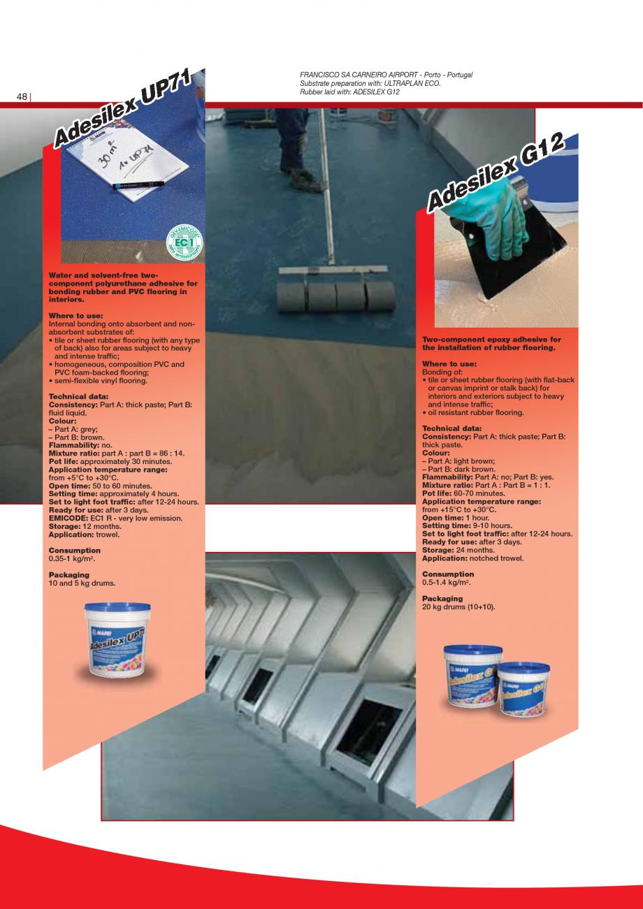 Pagina 50 - Produse pentru montarea imbracamintilor vinilice, textile si cauciuc pentru pereti si...