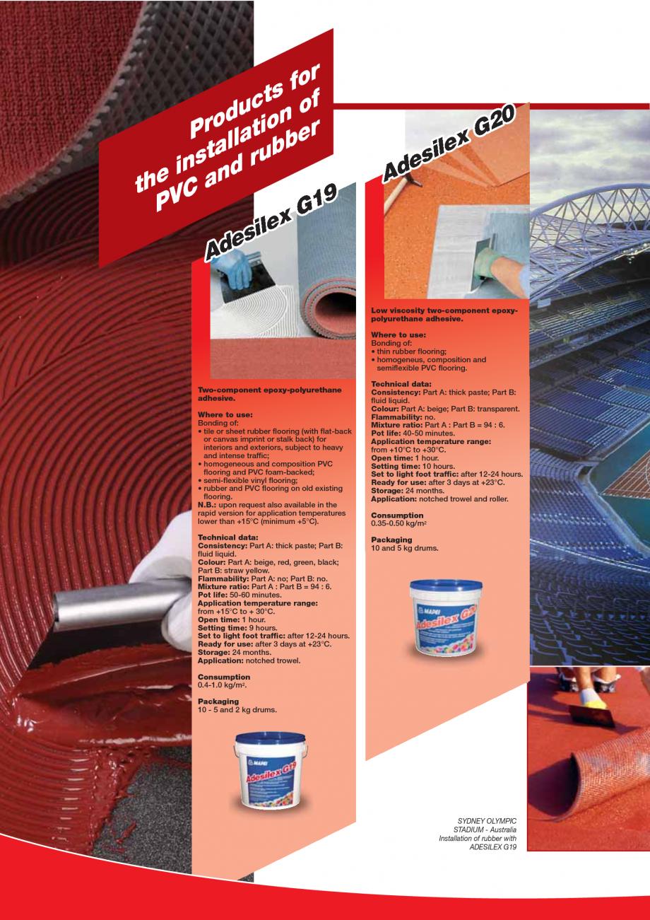 Pagina 54 - Produse pentru montarea imbracamintilor vinilice, textile si cauciuc pentru pereti si...