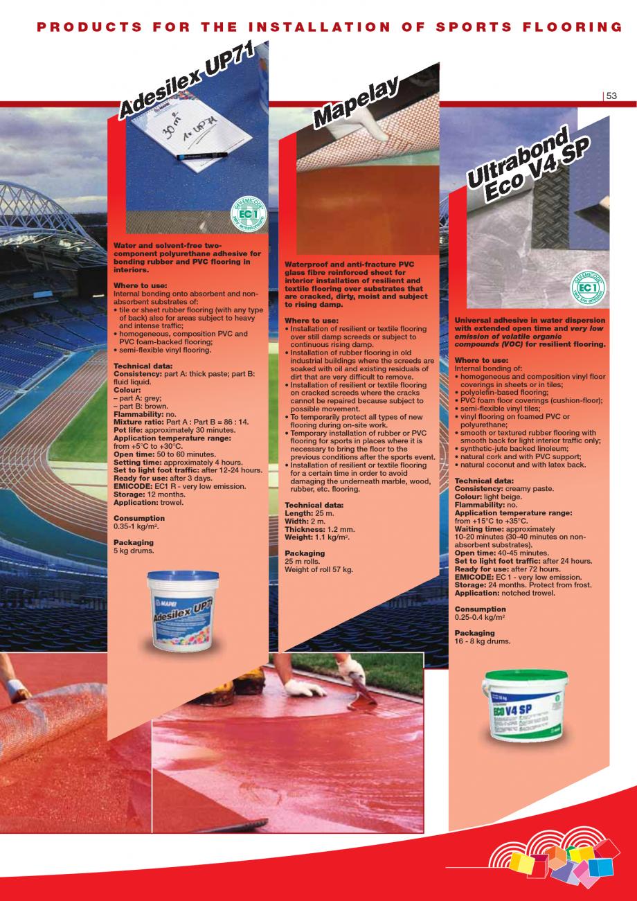 Pagina 55 - Produse pentru montarea imbracamintilor vinilice, textile si cauciuc pentru pereti si...