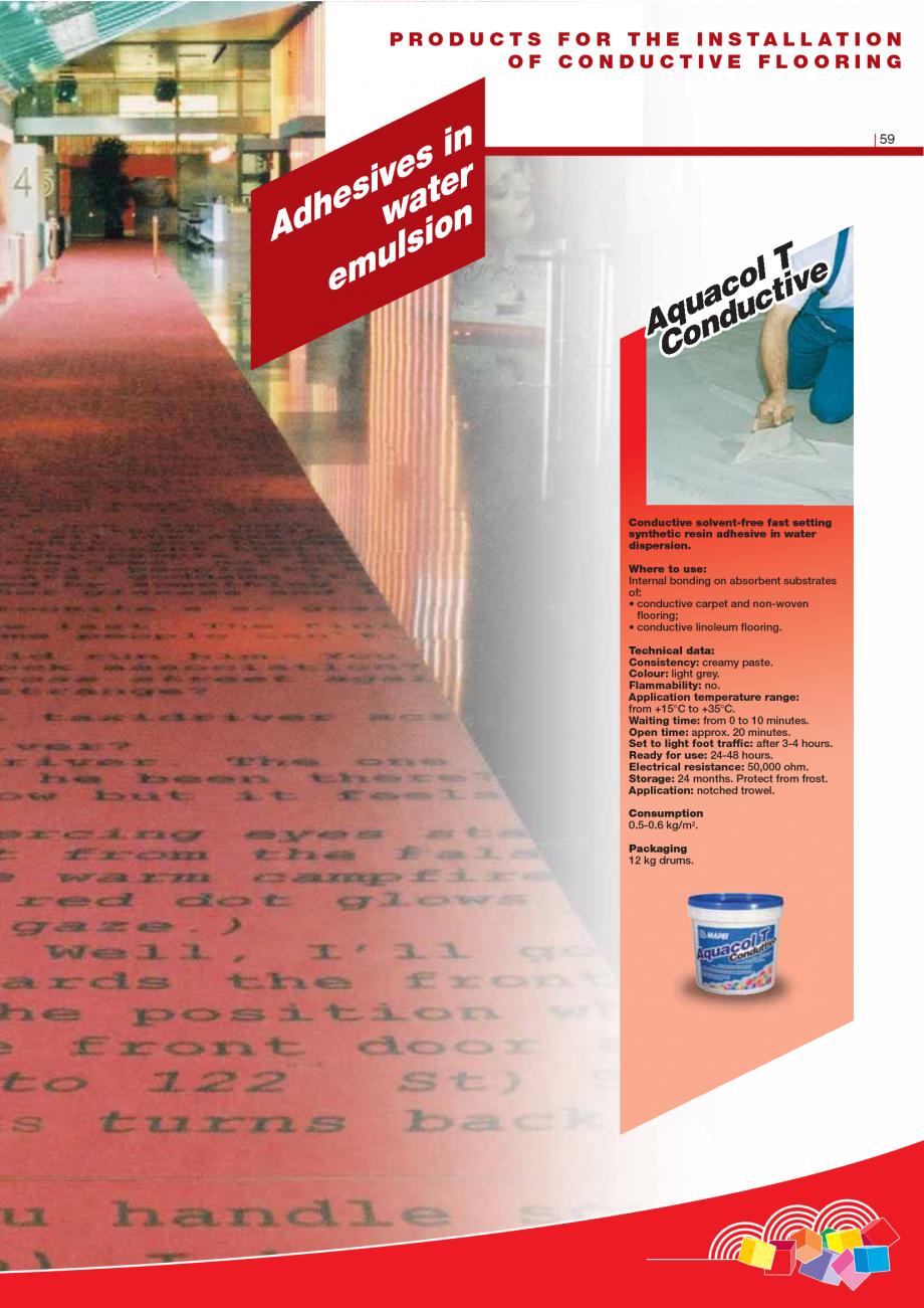 Pagina 61 - Produse pentru montarea imbracamintilor vinilice, textile si cauciuc pentru pereti si...