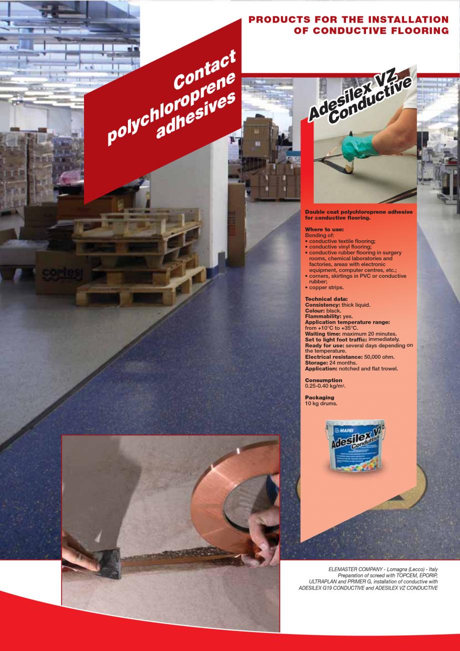 Pagina 62 - Produse pentru montarea imbracamintilor vinilice, textile si cauciuc pentru pereti si...