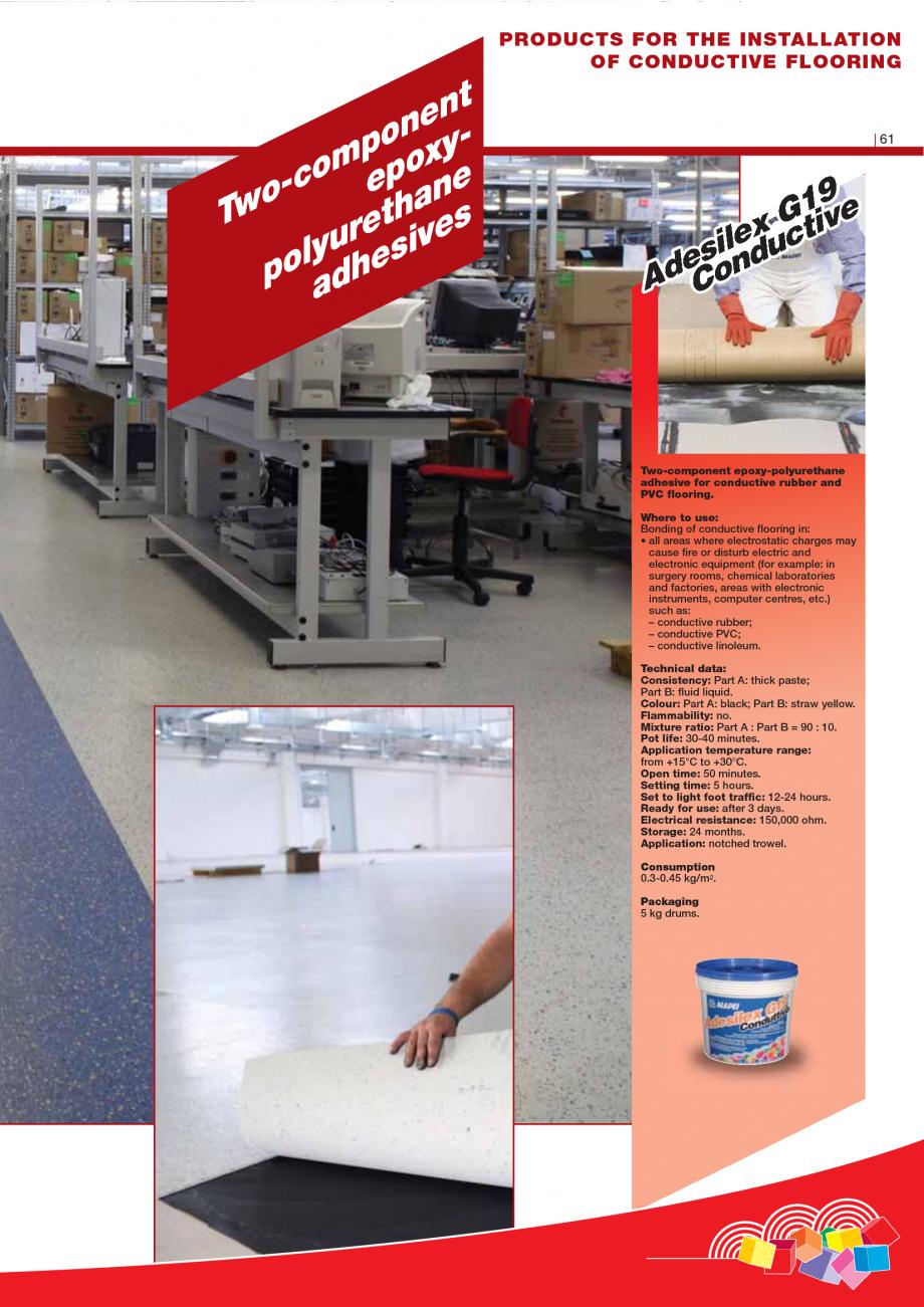 Pagina 63 - Produse pentru montarea imbracamintilor vinilice, textile si cauciuc pentru pereti si...