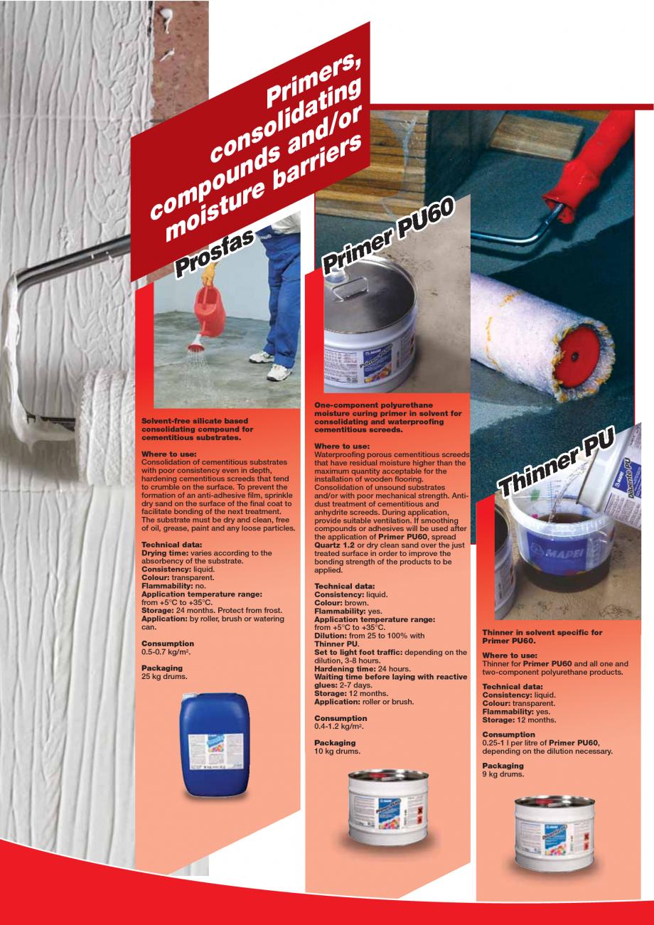 Pagina 82 - Produse pentru montarea imbracamintilor vinilice, textile si cauciuc pentru pereti si...