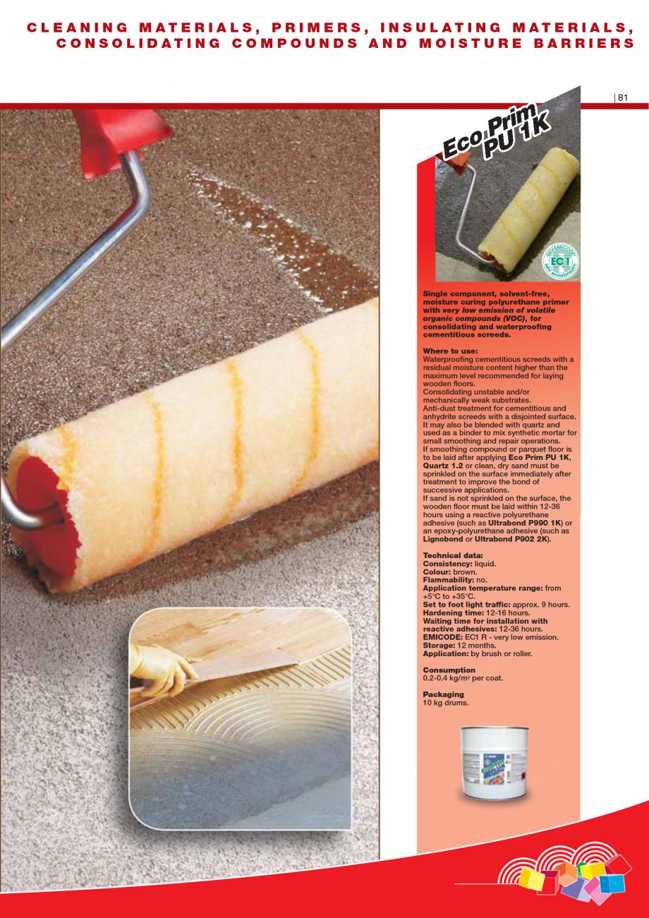 Pagina 83 - Produse pentru montarea imbracamintilor vinilice, textile si cauciuc pentru pereti si...