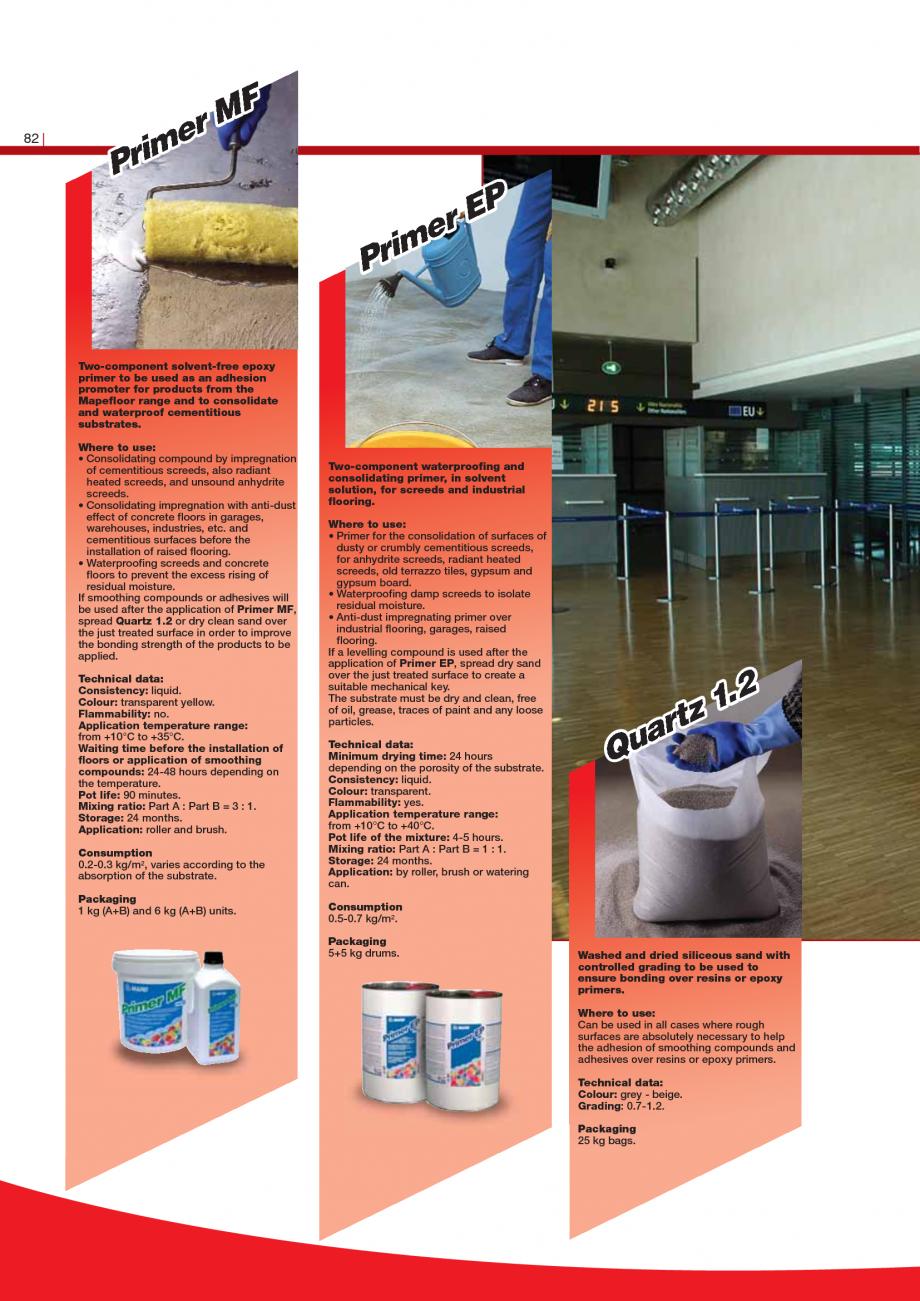 Pagina 84 - Produse pentru montarea imbracamintilor vinilice, textile si cauciuc pentru pereti si...