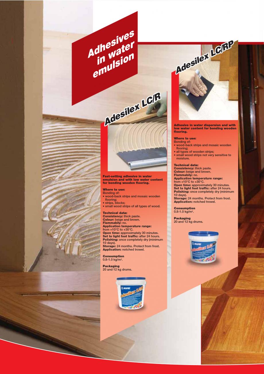 Pagina 90 - Produse pentru montarea imbracamintilor vinilice, textile si cauciuc pentru pereti si...