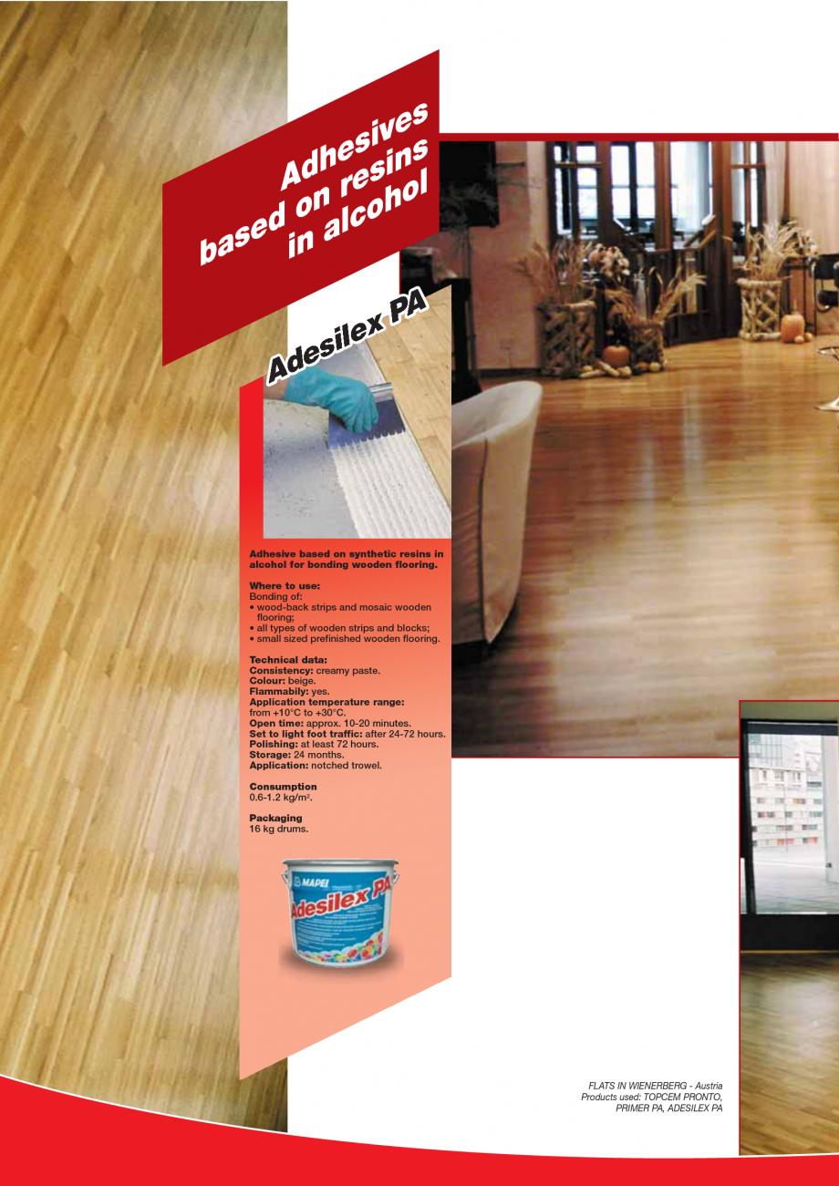 Pagina 92 - Produse pentru montarea imbracamintilor vinilice, textile si cauciuc pentru pereti si...