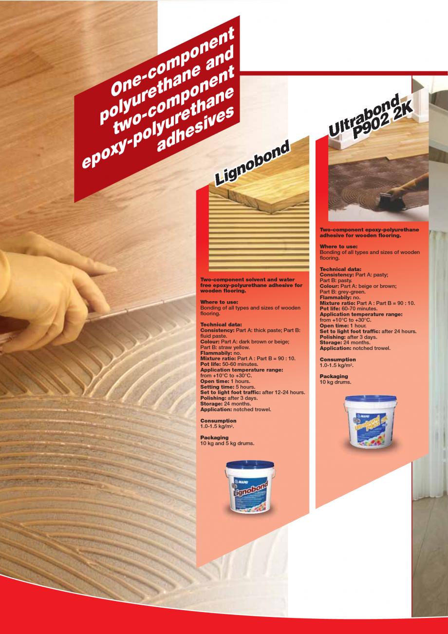 Pagina 94 - Produse pentru montarea imbracamintilor vinilice, textile si cauciuc pentru pereti si...