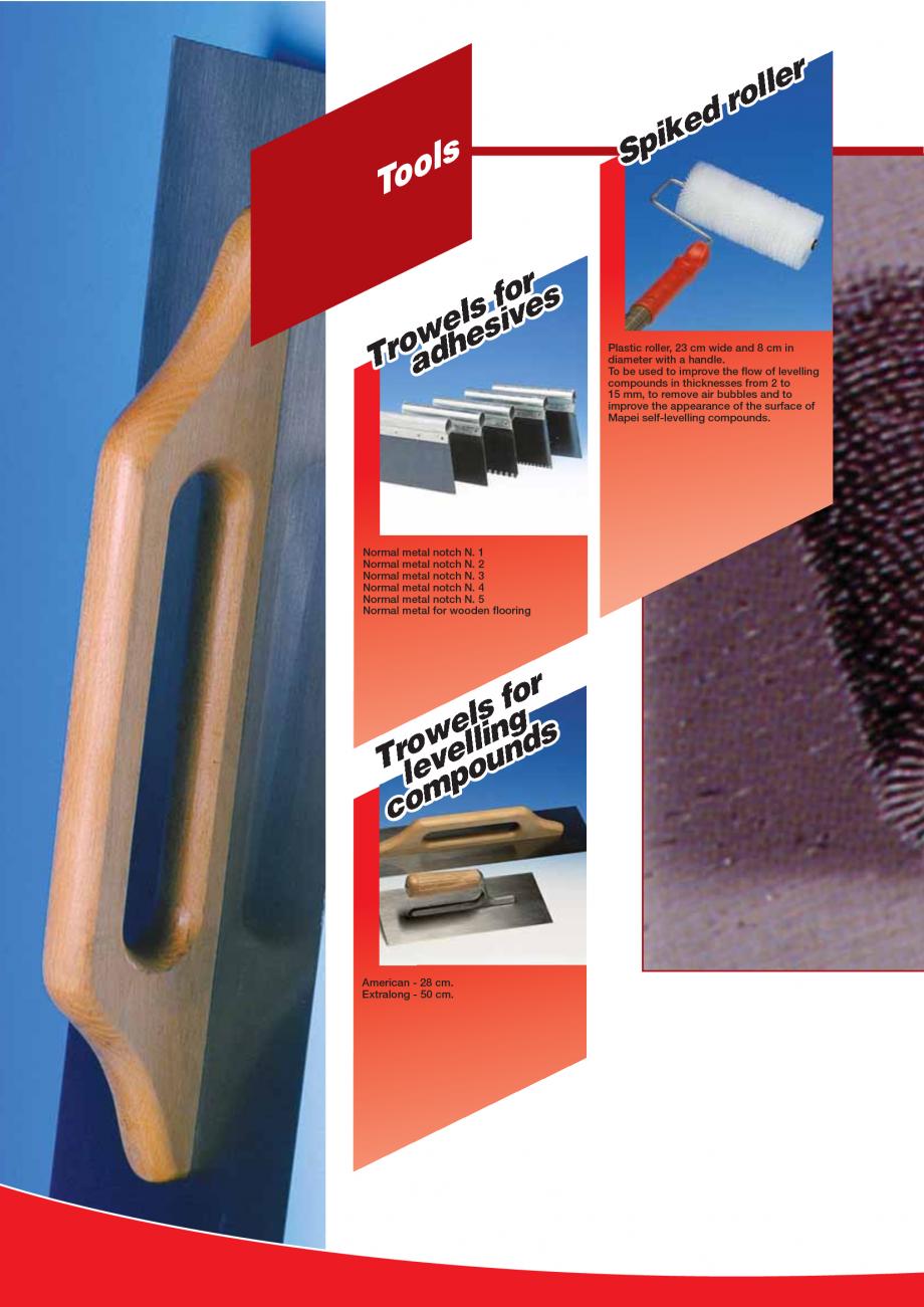 Pagina 98 - Produse pentru montarea imbracamintilor vinilice, textile si cauciuc pentru pereti si...