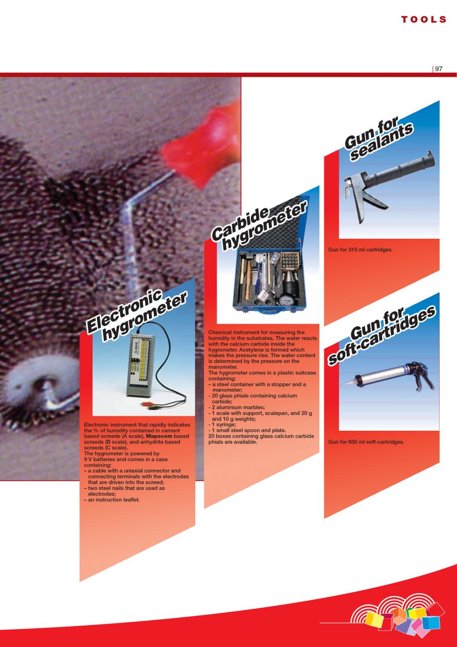 Pagina 99 - Produse pentru montarea imbracamintilor vinilice, textile si cauciuc pentru pereti si...