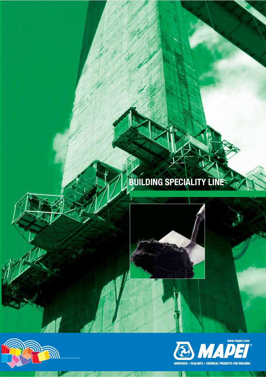 Pagina 1 - Catalog mortare, materiale speciale MAPEI Catalog, brosura Engleza BUILDING SPECIALITY...