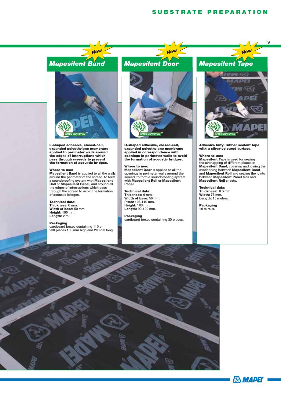 Pagina 11 - Catalog mortare, materiale speciale MAPEI Catalog, brosura Engleza astocolor Waterproof ...