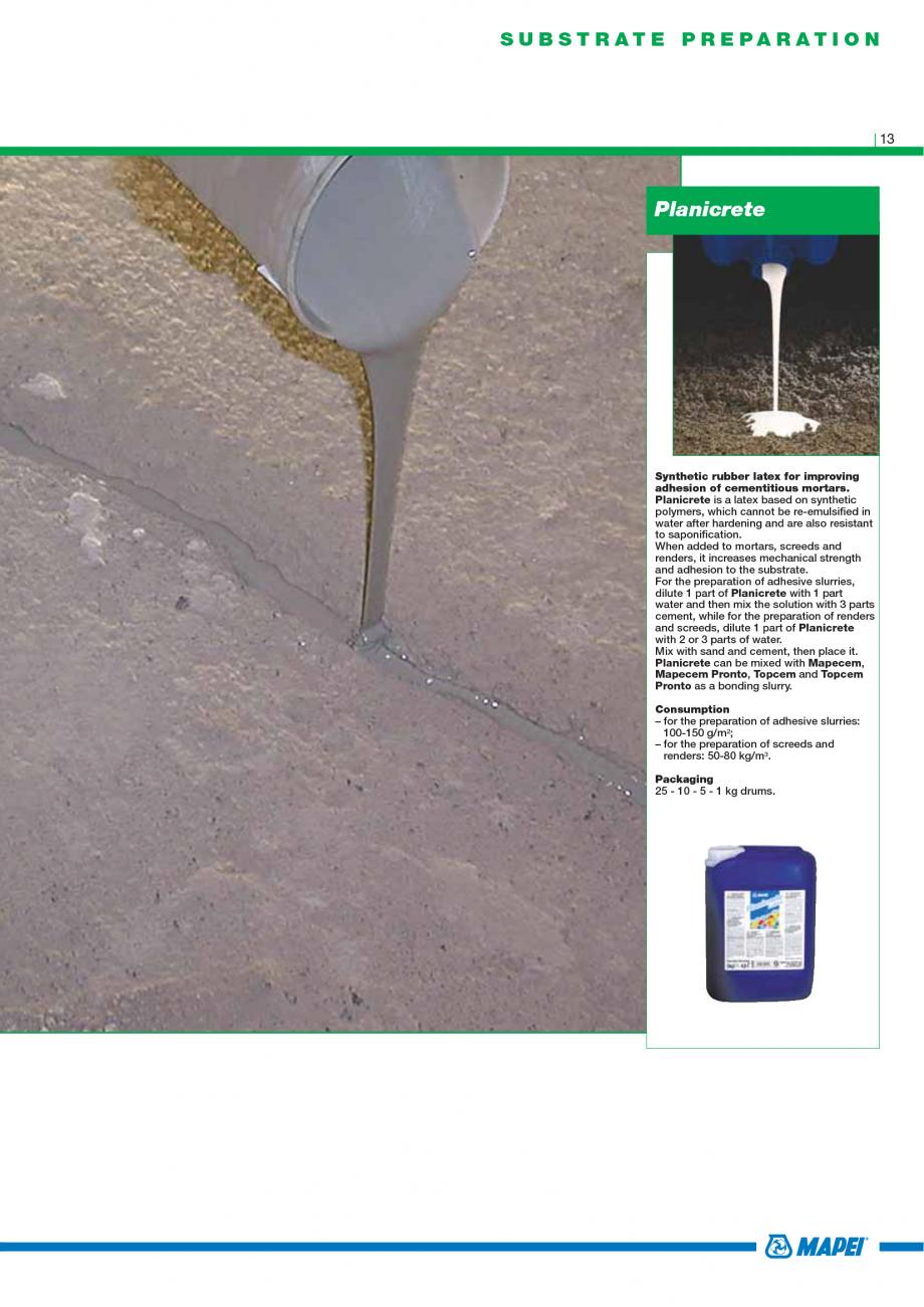 Pagina 15 - Catalog mortare, materiale speciale MAPEI Catalog, brosura Engleza onaco Macchina 76...