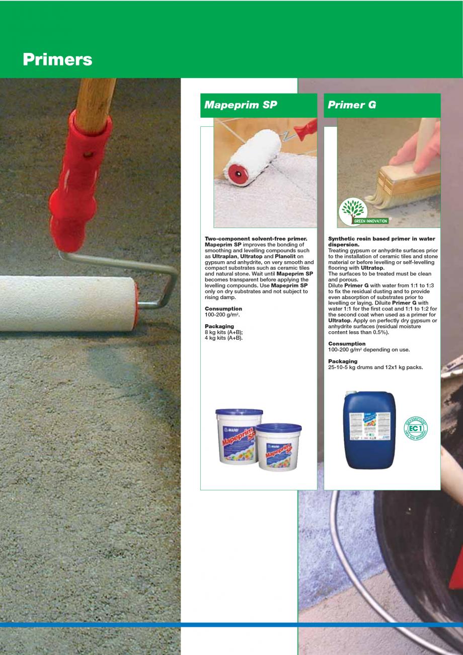 Pagina 18 - Catalog mortare, materiale speciale MAPEI Catalog, brosura Engleza   New  New  New ...