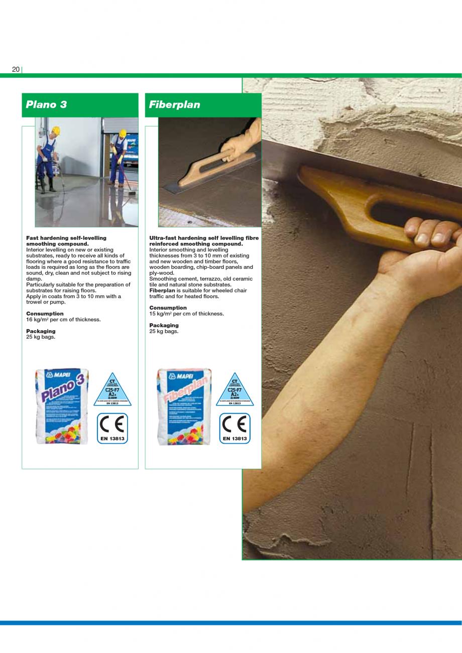 Pagina 22 - Catalog mortare, materiale speciale MAPEI Catalog, brosura Engleza hickness, within 4...