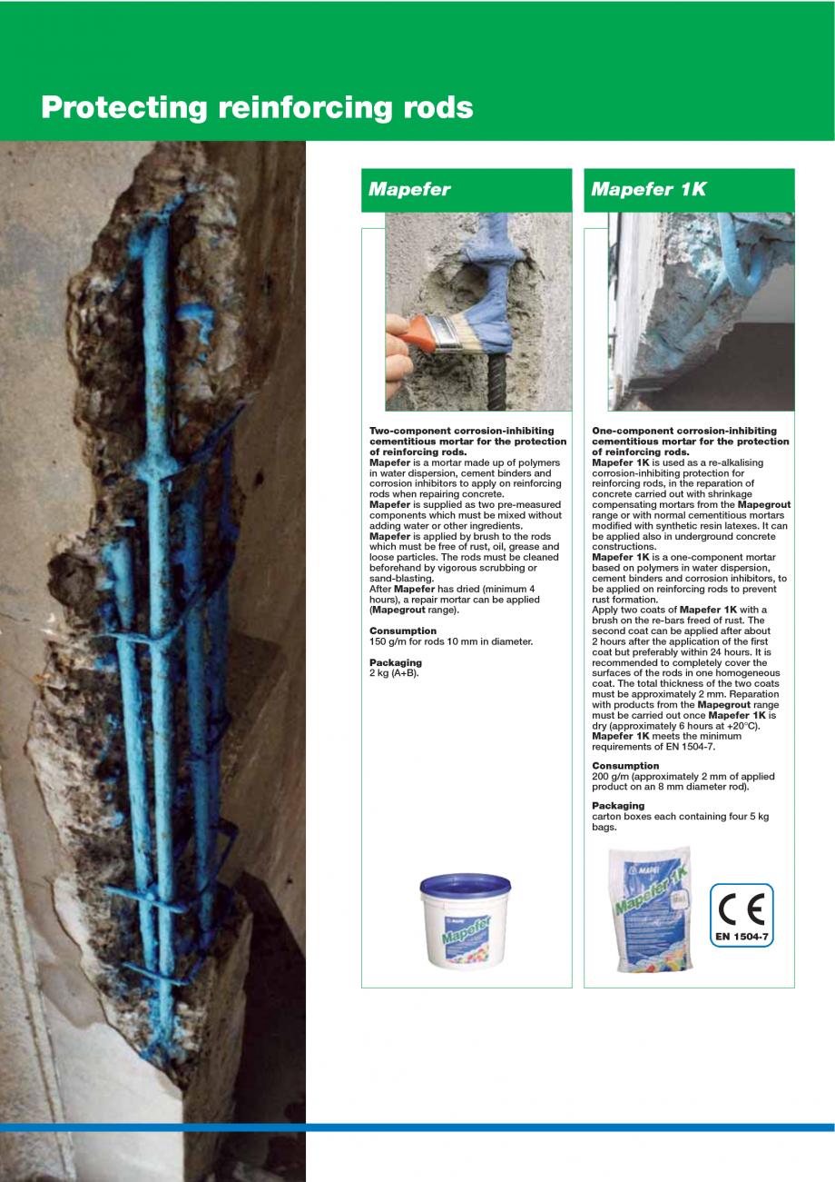 Pagina 24 - Catalog mortare, materiale speciale MAPEI Catalog, brosura Engleza  of cavity to be...