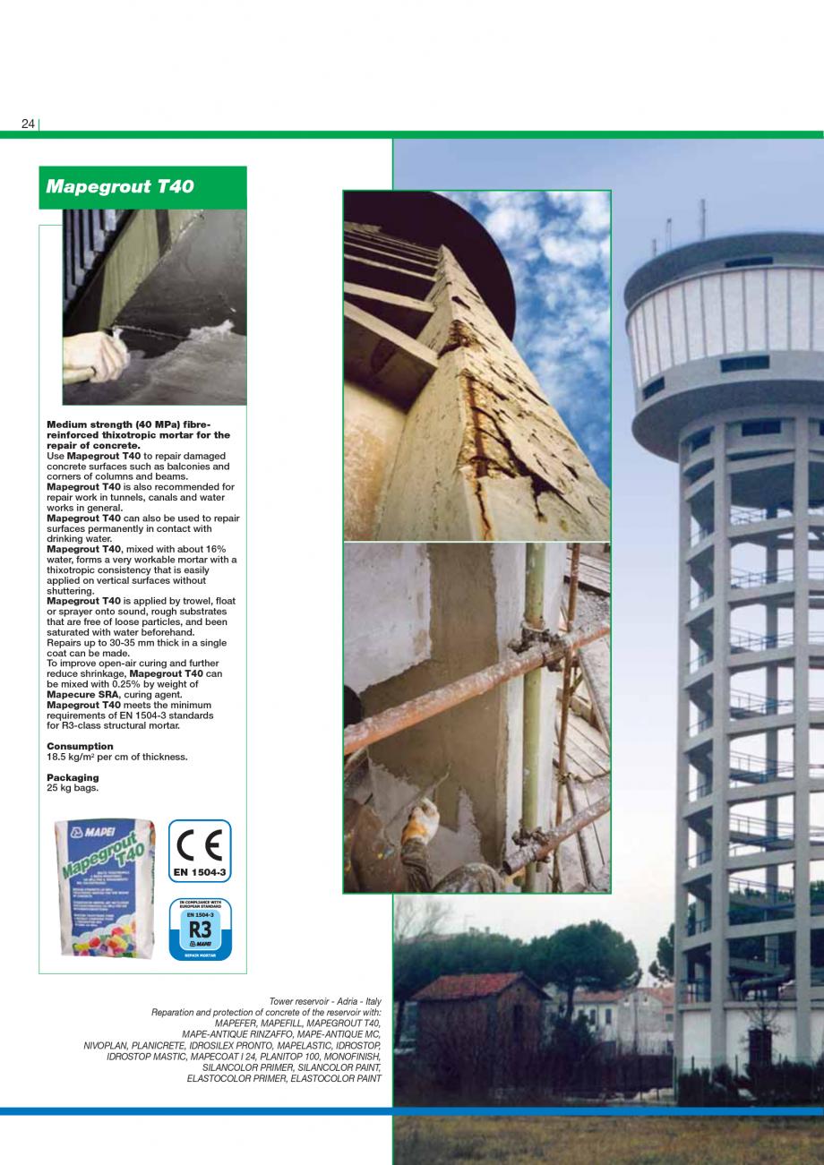 Pagina 26 - Catalog mortare, materiale speciale MAPEI Catalog, brosura Engleza  all the other...