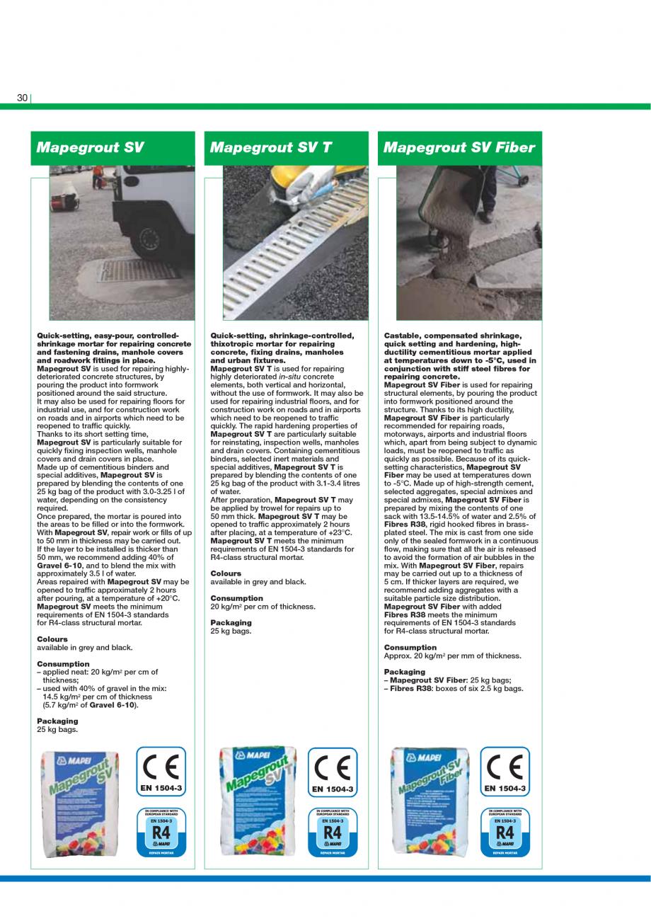 Pagina 32 - Catalog mortare, materiale speciale MAPEI Catalog, brosura Engleza ated with Ultratop....