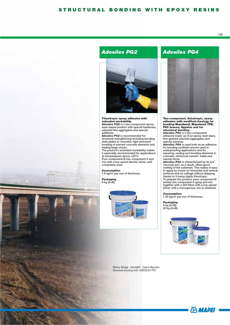 Pagina 47 - Catalog mortare, materiale speciale MAPEI Catalog, brosura Engleza ces or ceilings...