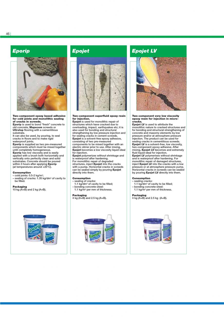 Pagina 48 - Catalog mortare, materiale speciale MAPEI Catalog, brosura Engleza e, which has been...
