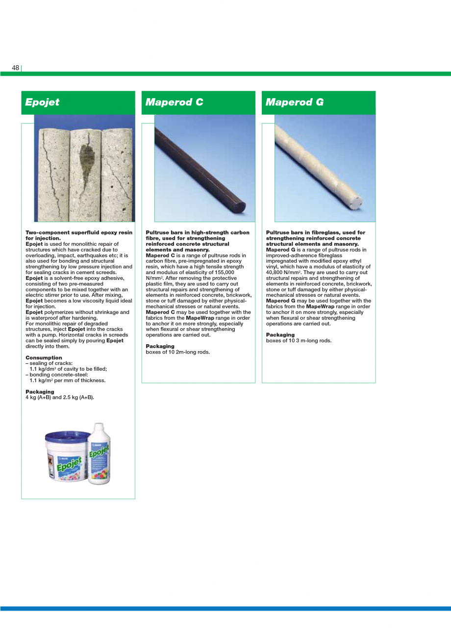 Pagina 50 - Catalog mortare, materiale speciale MAPEI Catalog, brosura Engleza pairing tunnels,...