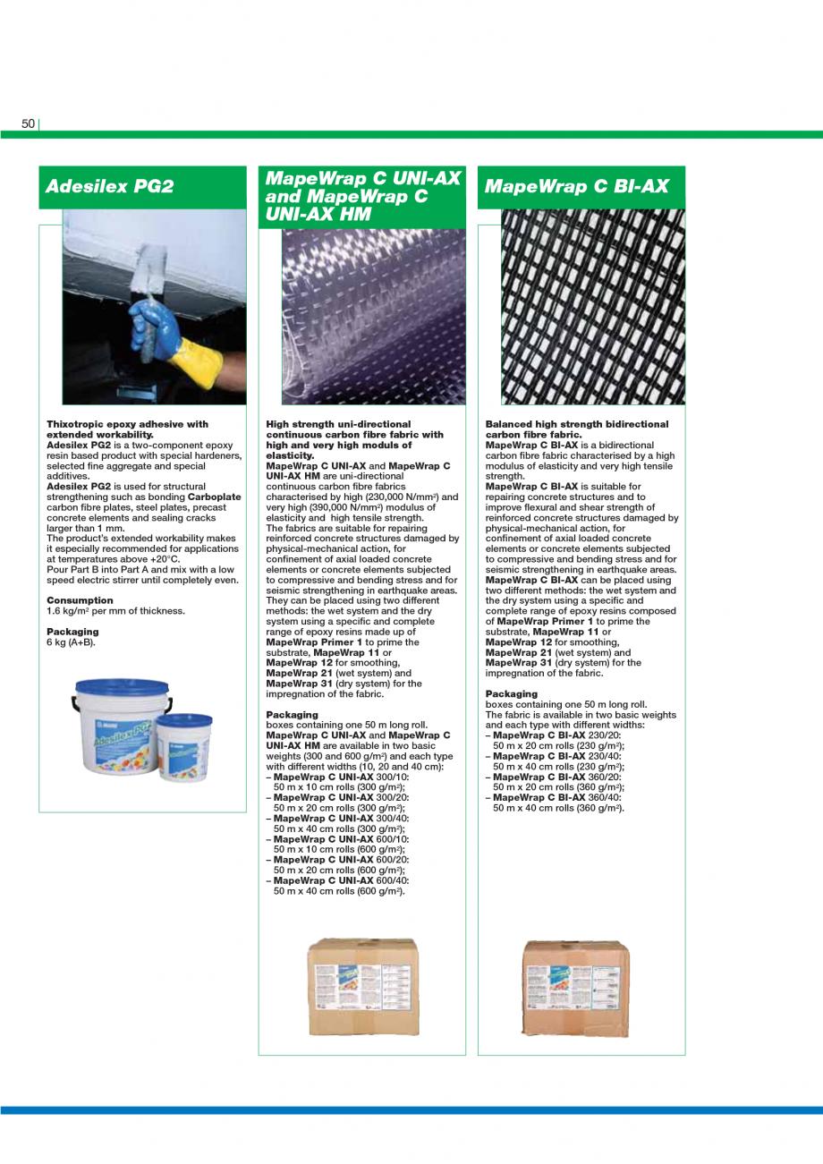 Pagina 52 - Catalog mortare, materiale speciale MAPEI Catalog, brosura Engleza low for the repair of...