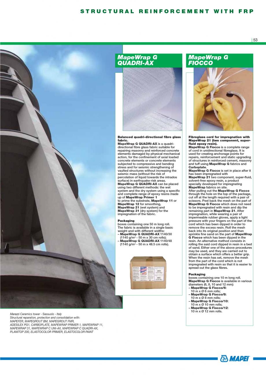 Pagina 55 - Catalog mortare, materiale speciale MAPEI Catalog, brosura Engleza . The product may...