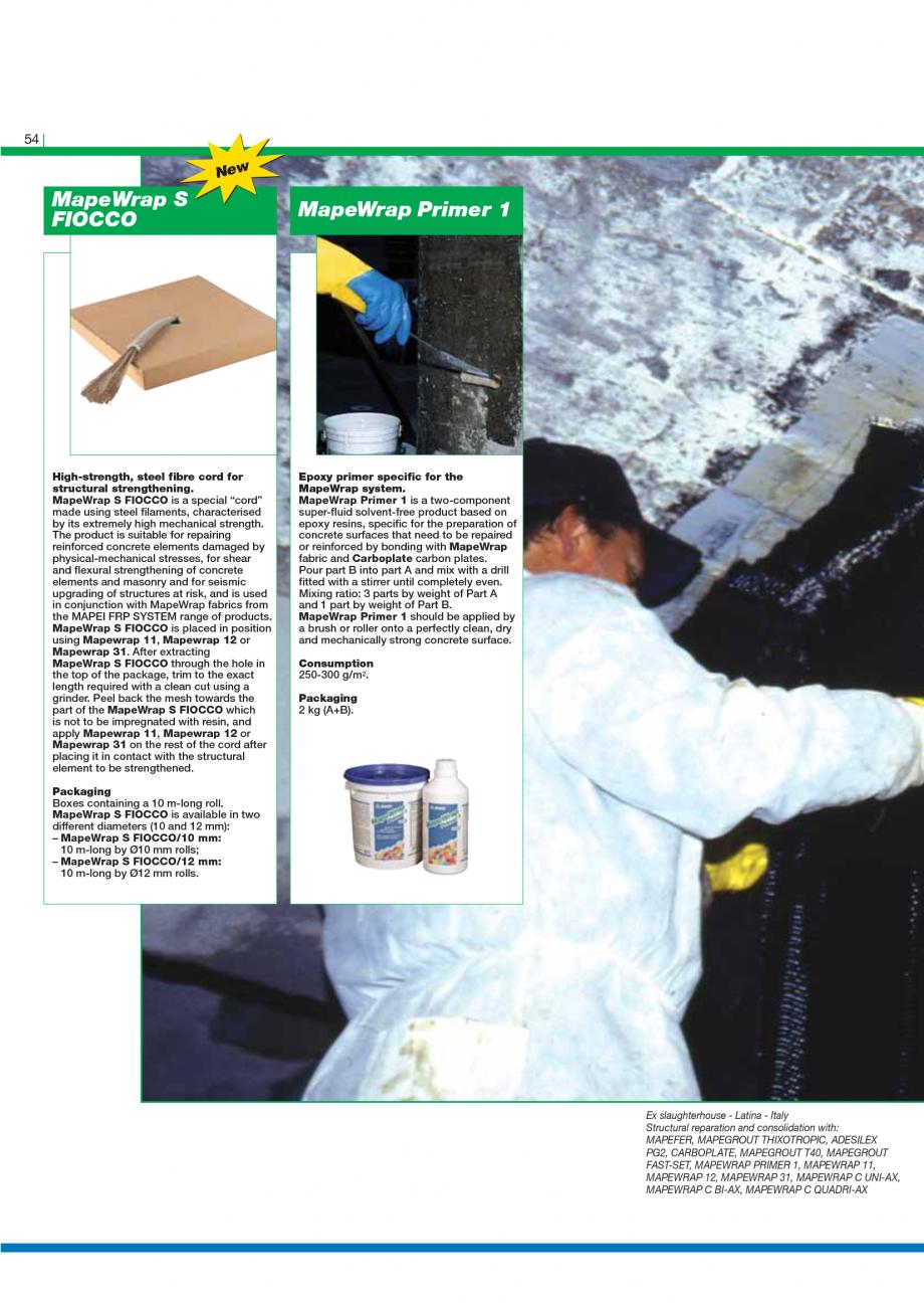 Pagina 56 - Catalog mortare, materiale speciale MAPEI Catalog, brosura Engleza  made up of...