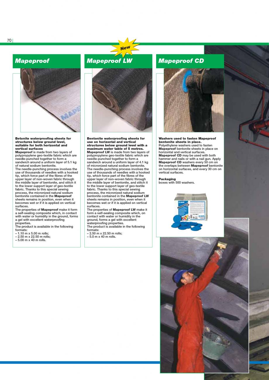 Pagina 72 - Catalog mortare, materiale speciale MAPEI Catalog, brosura Engleza o them. Consumption...