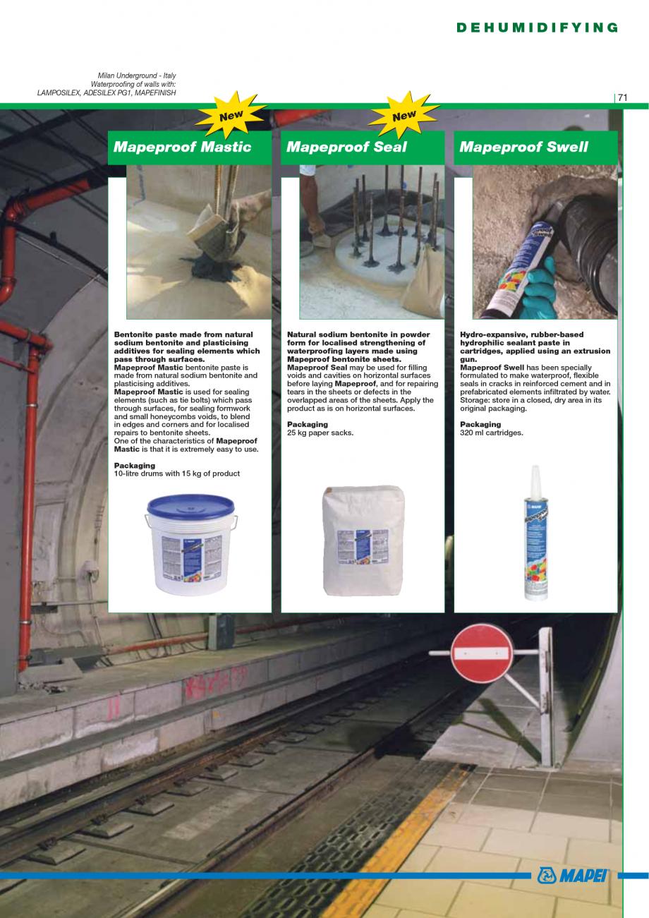 Pagina 73 - Catalog mortare, materiale speciale MAPEI Catalog, brosura Engleza s: 1.1 kg/dm3 of...