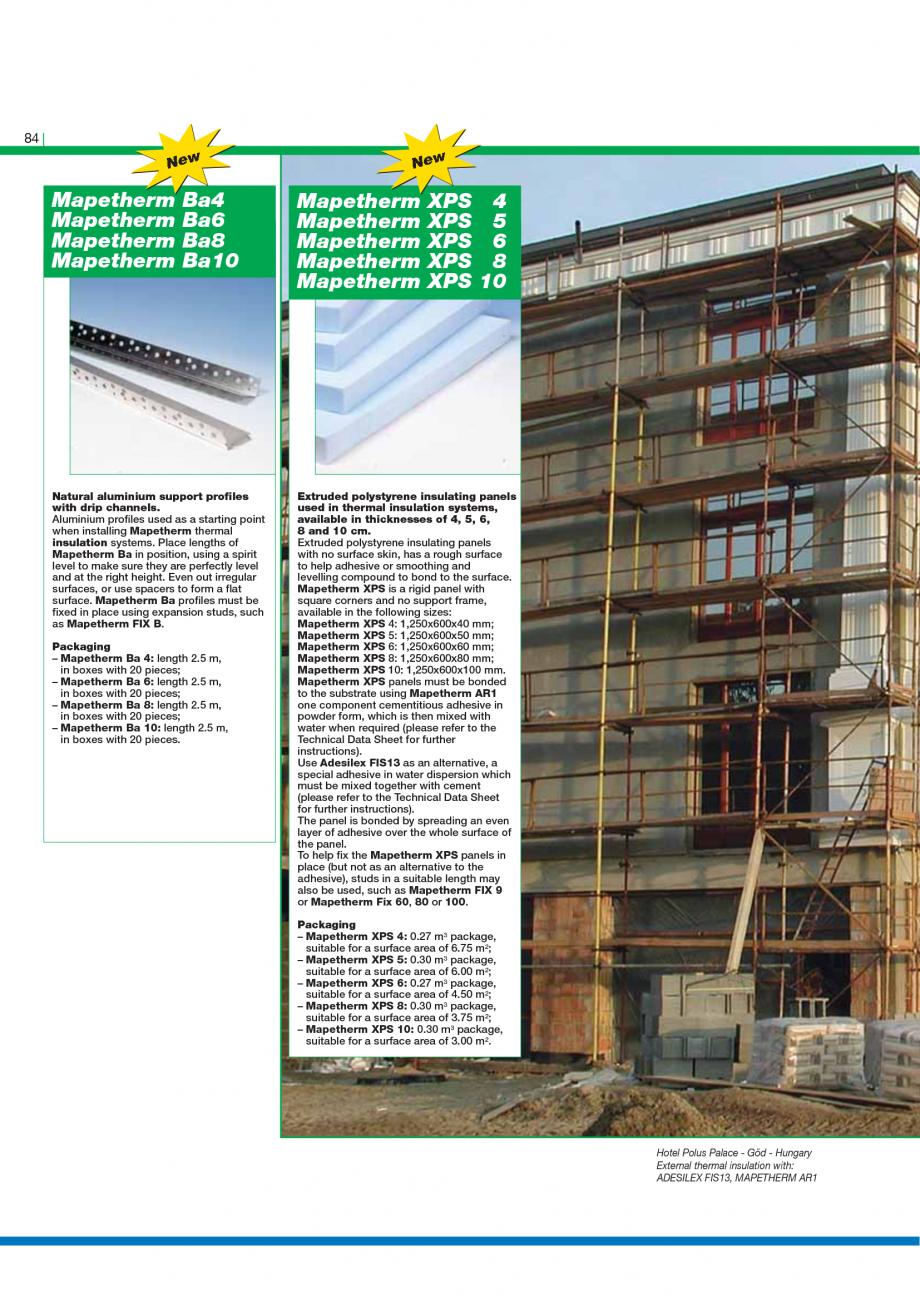 Pagina 86 - Catalog mortare, materiale speciale MAPEI Catalog, brosura Engleza is also suitable for ...