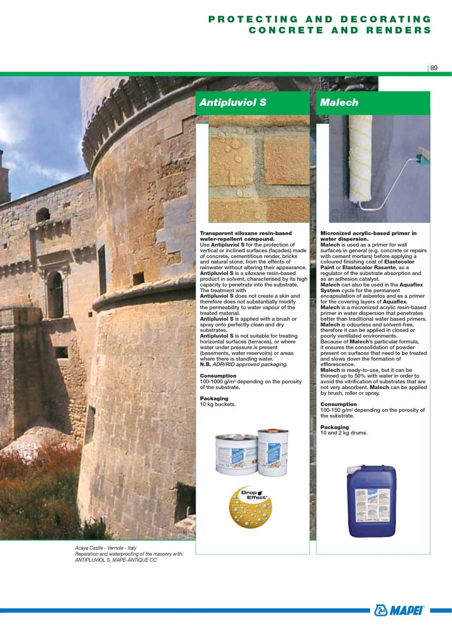 Pagina 91 - Catalog mortare, materiale speciale MAPEI Catalog, brosura Engleza rowel on the surface ...