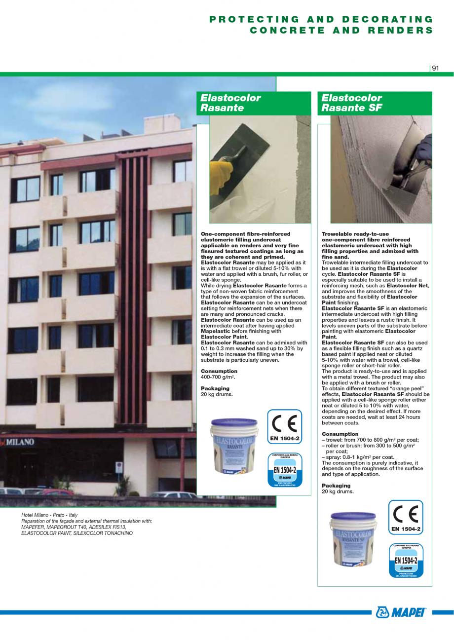 Pagina 93 - Catalog mortare, materiale speciale MAPEI Catalog, brosura Engleza s a flexible...