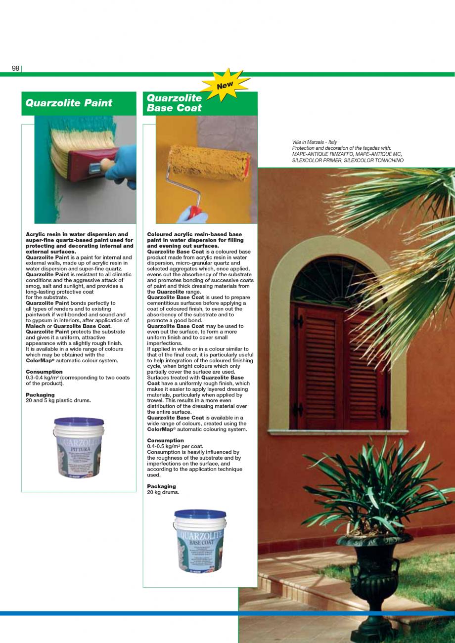 Pagina 100 - Catalog mortare, materiale speciale MAPEI Catalog, brosura Engleza  used, by pouring,...