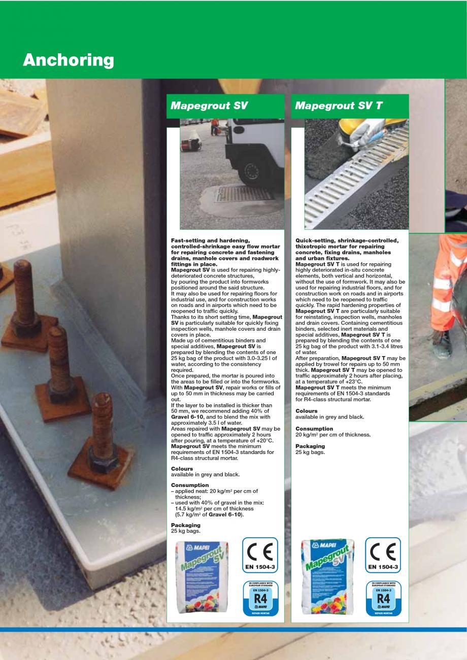 Pagina 106 - Catalog mortare, materiale speciale MAPEI Catalog, brosura Engleza engthening...
