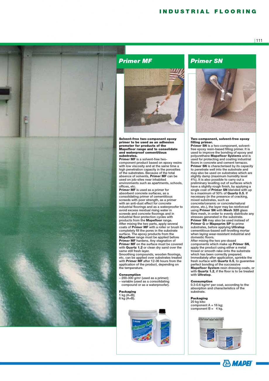 Pagina 113 - Catalog mortare, materiale speciale MAPEI Catalog, brosura Engleza ressive and bending ...